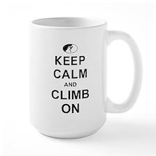 Keep Calm And Climb On Mug
