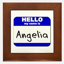 hello my name is angelia  Framed Tile