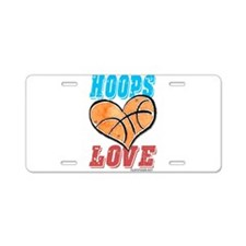 Play Strong Basketball Love Aluminum License Plate