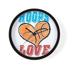 Play Strong Basketball Love Wall Clock