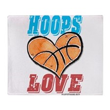 Play Strong Basketball Love Throw Blanket