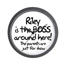 Riley is the Boss Wall Clock