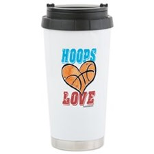 Play Strong Basketball Love Travel Mug