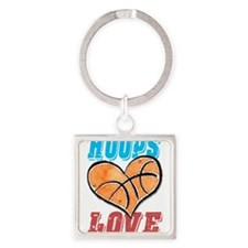 Play Strong Basketball Love Keychains