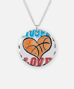 Play Strong Basketball Love Necklace