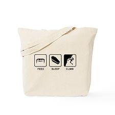 Feed Sleep Climb Tote Bag