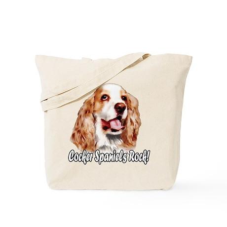 Cocker Spaniels Rock Tote Bag