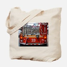 Red Fire Engine: Hoses Tote Bag