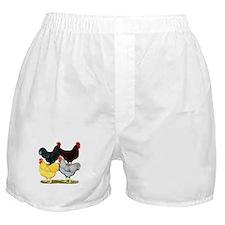 Heavy Breeds Rooster Quartet Boxer Shorts