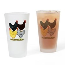 Heavy Breeds Rooster Quartet Drinking Glass