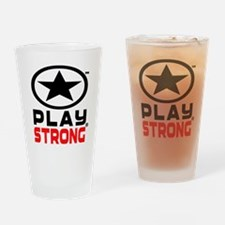 Play Strong Oval Star Drinking Glass