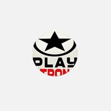 Play Strong Oval Star Mini Button