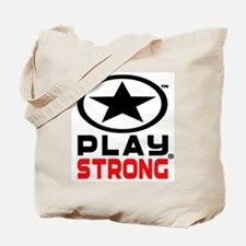 Play Strong Oval Star Tote Bag