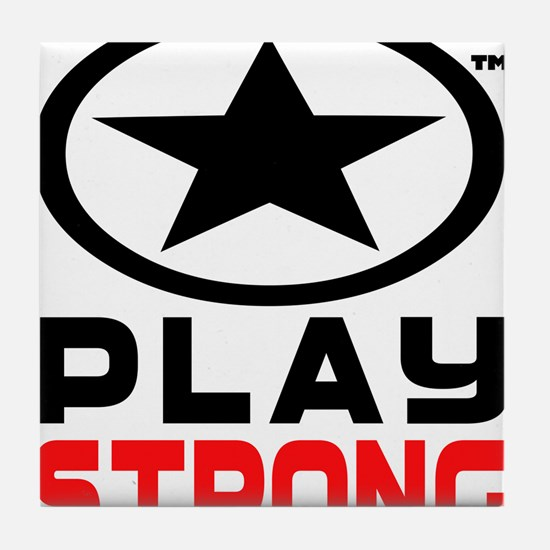 Play Strong Oval Star Tile Coaster
