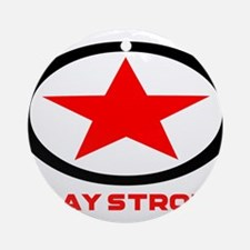 Play Strong Star Logo Ornament (Round)