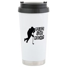 Peace, Love, Hockey Travel Mug