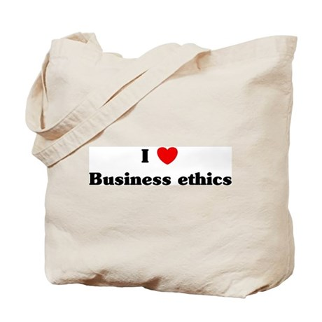 I Love Business ethics Tote Bag