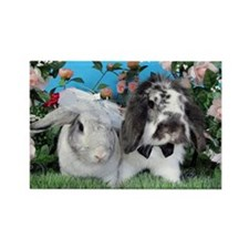 Beatrix and Dudley-June Wedding Bunnies Magnets