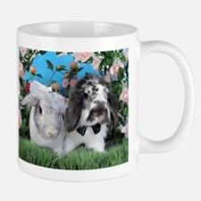 Beatrix and Dudley-June Wedding Bunnies Mugs