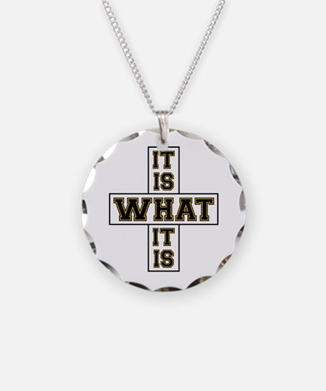 It Is What It Is Black and G Necklace
