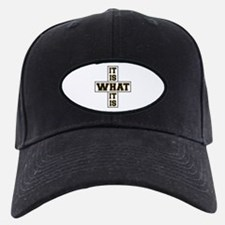 It Is What It Is Black and Gold Baseball Hat