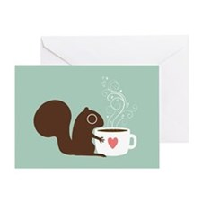 Coffee Squirrel Greeting Card