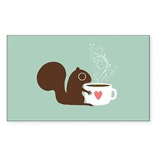 Coffee Squirrel Decal