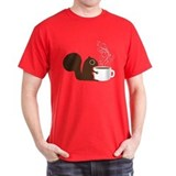 Coffee squirrel Mens Classic Dark T-Shirts
