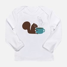 Coffee Squirrel Long Sleeve Infant T-Shirt