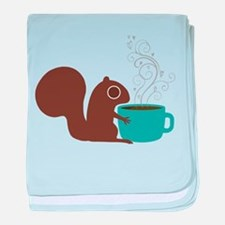 Coffee Squirrel baby blanket