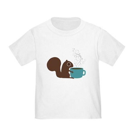 Coffee Squirrel Toddler T-Shirt