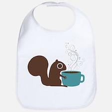Coffee Squirrel Bib