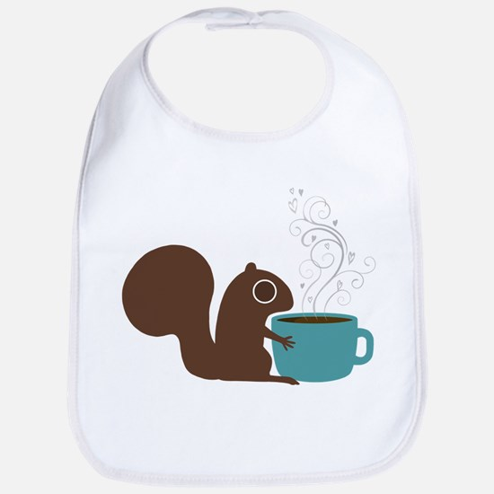 Coffee Squirrel Bib