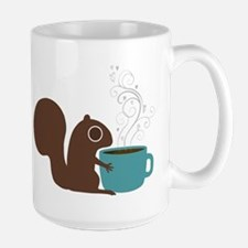 Coffee Squirrel Large Mug