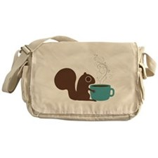 Coffee Squirrel Messenger Bag