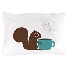 Coffee Squirrel Pillow Case