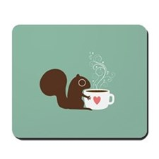 Coffee Squirrel Mousepad