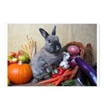 Teddy-Cornucopia Bunny Postcards (Package of 8)