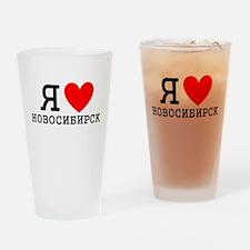LyublyuRUS_Novosibirsk Drinking Glass