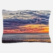 Colorful Cloudy Sunset over the Ocean Pillow Case