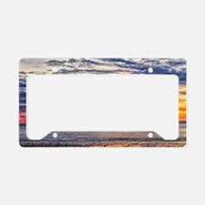 Colorful Cloudy Sunset over t License Plate Holder