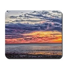 Colorful Cloudy Sunset over the Ocean Mousepad
