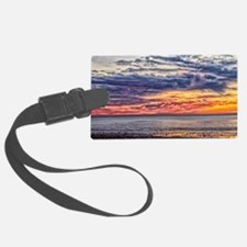 Colorful Cloudy Sunset over the  Luggage Tag