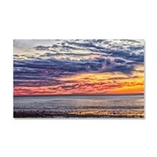 Colorful Cloudy Sunset over the Car Magnet 20 x 12
