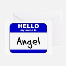 hello my name is angel  Greeting Cards (Package of