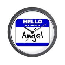hello my name is angel  Wall Clock
