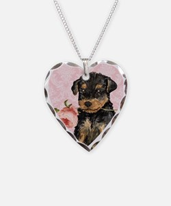 Airedale Rose Necklace