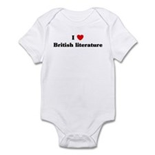 I Love British literature Infant Bodysuit