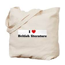 I Love British literature Tote Bag