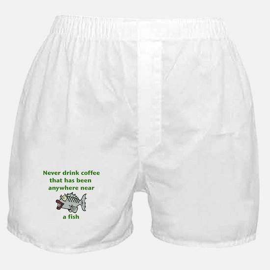 Fish Coffee Boxer Shorts